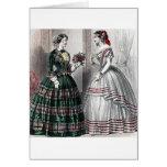 Vestido de bola de preguerra de las señoras de la  tarjeta de felicitación