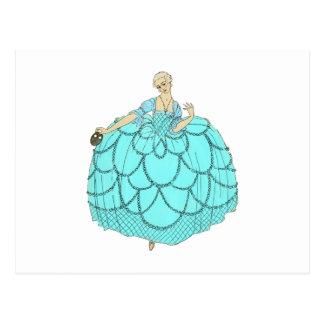 Vestido de bola del período tarjetas postales