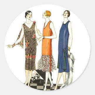 Vestido de cambio de la aleta de las señoras de la pegatina redonda