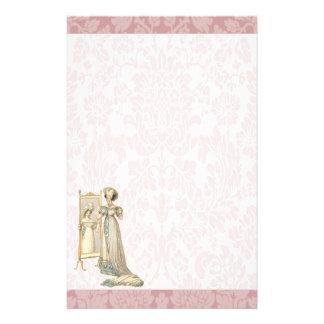 Vestido de corte de la era de 1822 regencias papeleria de diseño