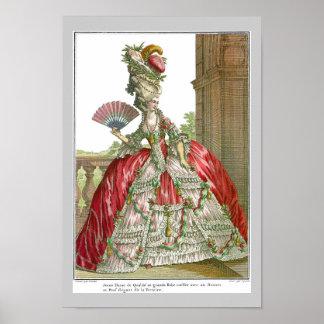 Vestido de corte francés 1778 poster