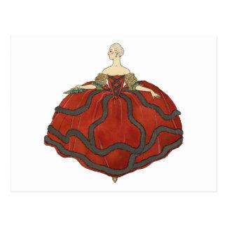 Vestido de la bola de la señora postales