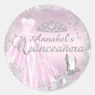 Vestido de la chispa y pegatina rosados de