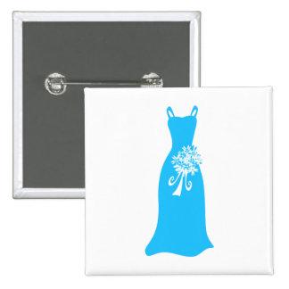 Vestido de la dama de honor pin cuadrado