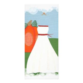 Vestido de la princesa boda, tarjetas del menú del plantilla de lona