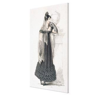 Vestido de luto, placa de moda del representante d impresión en lona estirada