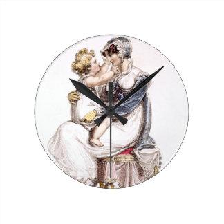 Vestido de mañana, placa de moda del Repo de Acker Reloj Redondo Mediano