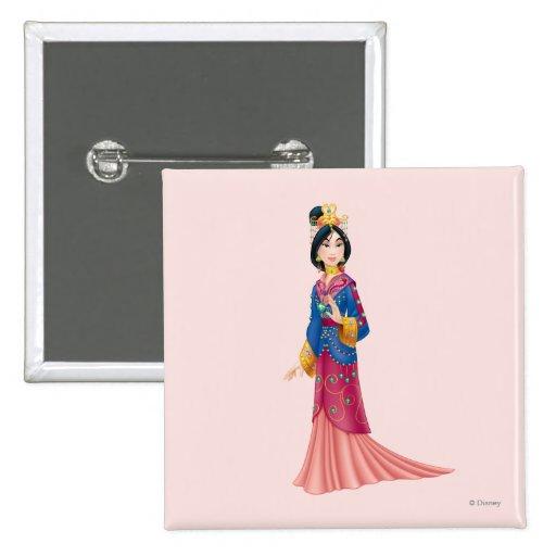 Vestido de Mulan Pin Cuadrada 5 Cm