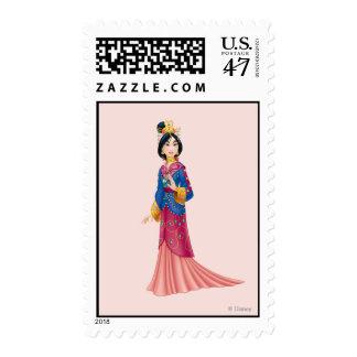 Vestido de Mulan Sellos Postales