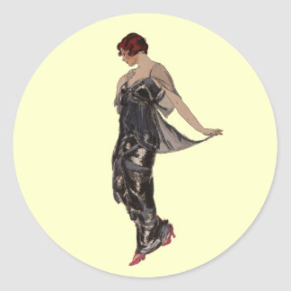 Vestido de noche de seda 1914 pegatina
