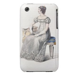 Vestido de noche, placa de moda del Repo de Ackerm iPhone 3 Carcasa