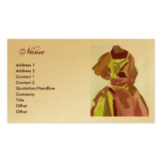 """Vestido de oro de Brown del """"diseñador de moda"""" Tarjetas De Visita"""