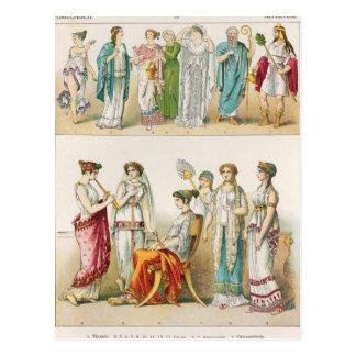 Vestido de teatro griego tarjetas postales