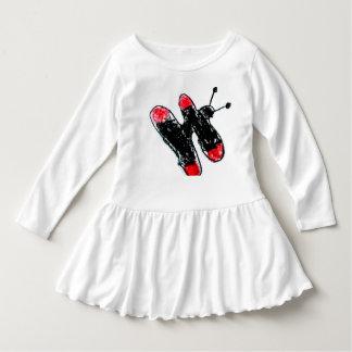 vestido de volante para niños con mariposa playeras