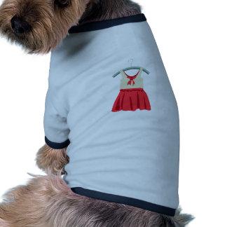 Vestido del chica camisa de perrito