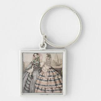 Vestido del día para 1858, grabado por Barreau Llaveros Personalizados