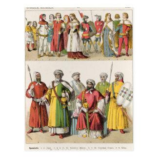Vestido del español y del Moorish Postal