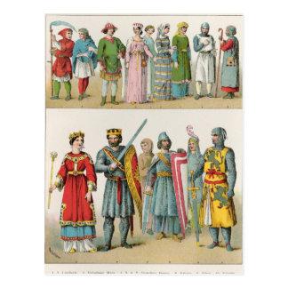 Vestido del francés tarjetas postales