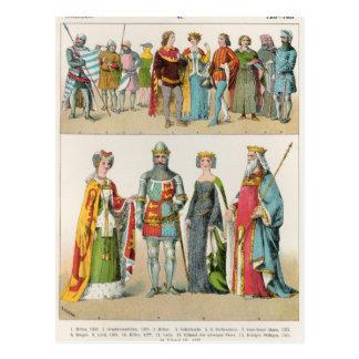 Vestido del inglés tarjetas postales
