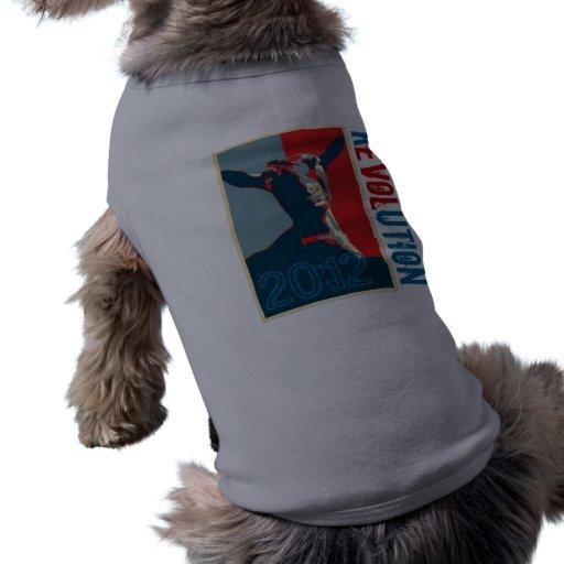 Vestido del mascota de la revolución playera sin mangas para perro