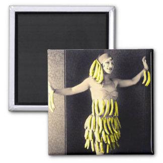 Vestido del plátano imanes de nevera