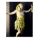 Vestido del plátano postal