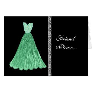 Vestido del TRULLO - el personalizado sea mi invit Felicitacion