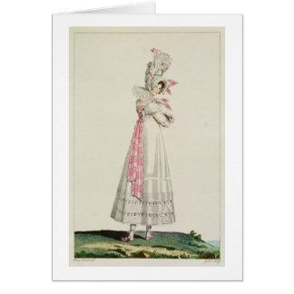Vestido del verano, placa de moda de 'Incroyables  Tarjeta