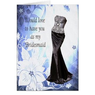 Vestido del vestido de la invitación de la dama de tarjetón