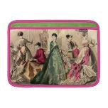 Vestido del Victorian con el arco rosado Fundas Para Macbook Air