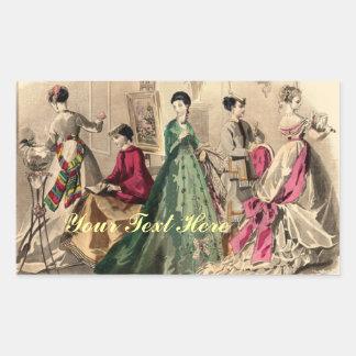 Vestido del Victorian con el arco rosado Rectangular Altavoces