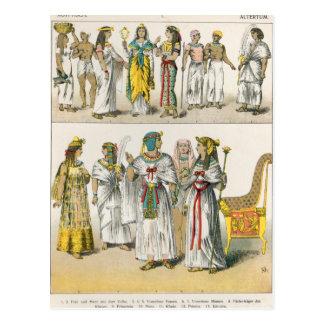 Vestido egipcio, del 'der Voelker de Trachten Tarjeta Postal