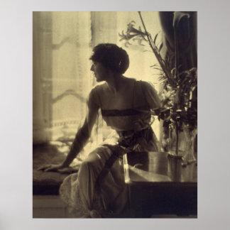 vestido elegante de la mujer de la moda de los año impresiones