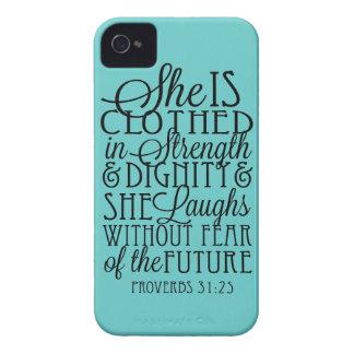 Vestido en fuerza y dignidad iPhone 4 Case-Mate funda