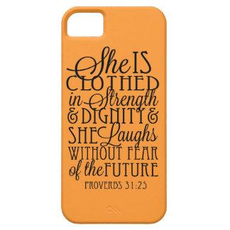 Vestido en fuerza y dignidad iPhone 5 fundas