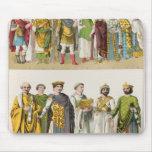 Vestido en la corte bizantina alfombrilla de raton