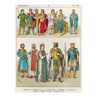 Vestido en la corte bizantina postal