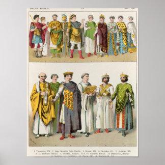 Vestido en la corte bizantina póster