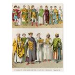 Vestido en la corte bizantina tarjetas postales