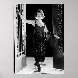 Vestido fabuloso de la aleta los años 20 impresiones