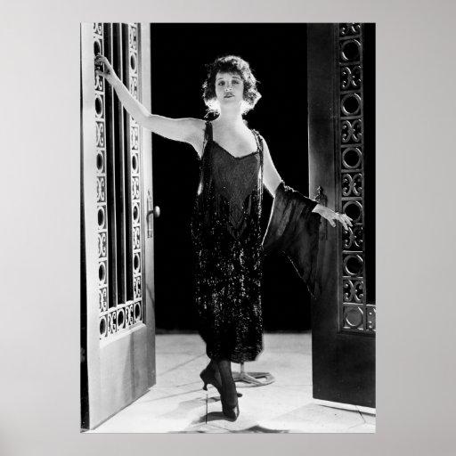 Vestido fabuloso de la aleta: los años 20 póster