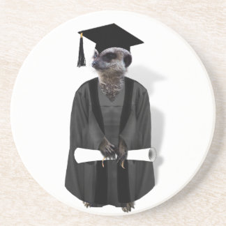 Vestido graduado de Meerkat W/Grey y marco negro Posavasos Manualidades