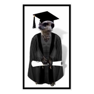 Vestido graduado de Meerkat W/Grey y marco negro Tarjetas De Visita