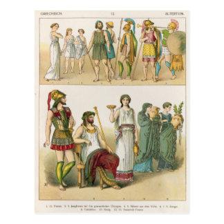 """Vestido griego, del """"der Voelker de Trachten"""", Tarjeta Postal"""
