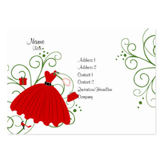 Vestido hermoso del día de fiesta tarjetas de visita grandes