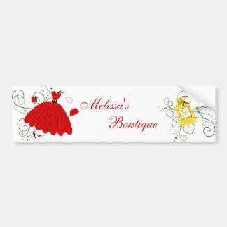 Vestido hermoso del navidad etiqueta de parachoque