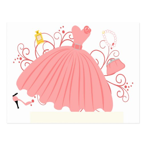 Vestido hermoso, hermoso tarjeta postal