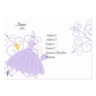 Vestido hermoso, hermoso tarjetas de visita grandes
