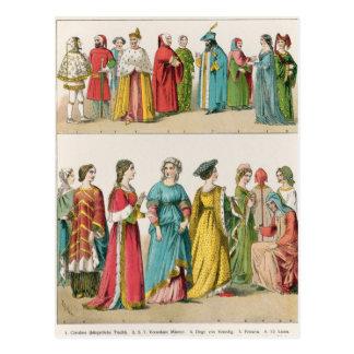 Vestido italiano postales