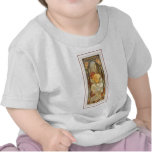 Vestido largo femenino de la señora del poster del camiseta